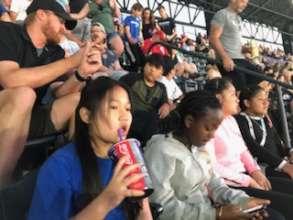 Enjoying the Colorado Rockies Baseball Game