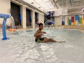 Pool time at the rec center!