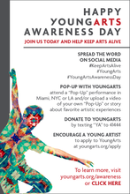 Happy YoungArts Awareness Day