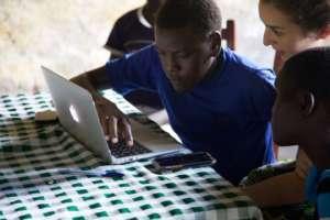 Eric learning basic internet and e-mail skills