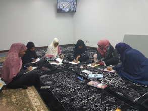 English language group training session