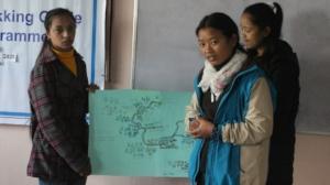 Manjari Presenting her project
