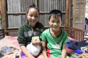Suong with her brother
