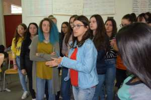 Workshop with girls in small place Babusnica