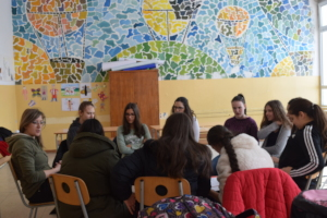 Workshop with girls in seventh grade