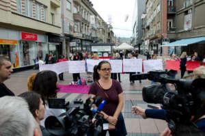 Street action against violence against women