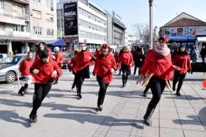 Street performing One Billion Rising