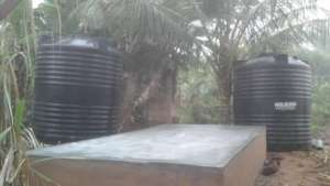 2 of 5000L storage and the 3ft concrete platform