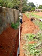Laying of undergound water extension pipes