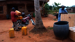 Access to water source using motorcycle