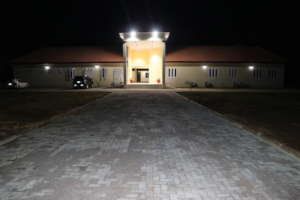 Night view of our newly constructed campus
