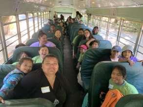Parents help chaperone a hiking field trip
