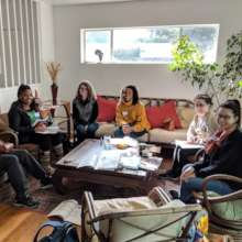 A recent support group meet-up for young women