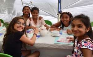 Pure Fun - tea party on a warm afternoon