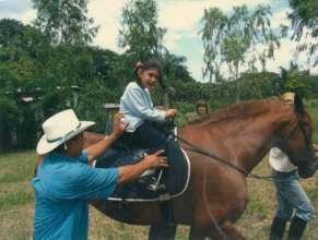 Little Linda on a big horse