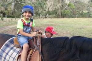 Just before lock down little boy big horse