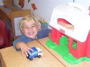 Equip 8 preschool classrooms on a college campus
