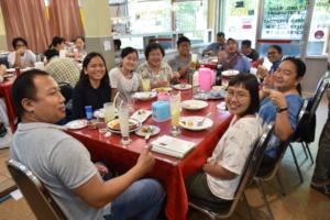 Members of SENS 2020 Sharing a Meal in Bangkok