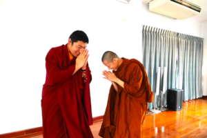Paying Respect to Tibetan Monk Phakchok Rinpoche
