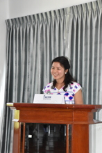 A Student from Myanmar Gives Her Graduation Talk