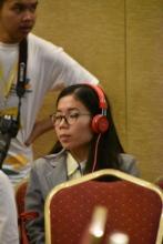 SENS alumnus listening at Civic Engagement Forum