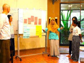 Annisa giving a presentation during a workshop