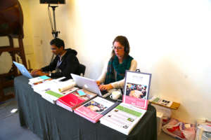 The INEB Institute's Desk at the Taiwan Conference