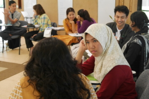 Students Discuss During a Classroom Session