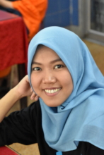 In-Class Photo of a Student from Indonesia
