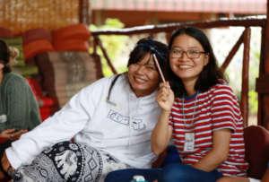 Two Students Enjoying the Power Analysis Workshop