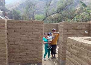 Esmeralda&Jorge's house with adobe walls finished