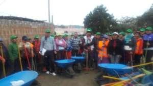 Community brigades for debris and mud remotion