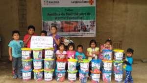 Distribution of family hygiene kits