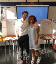 Isaac and co-teacher in 2017