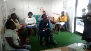 Teachers attending the 5 day training