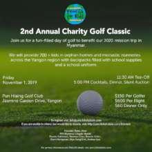 PFK 2nd Annual Charity Golf Classic- Myanmar!