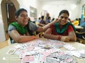 2 Sisters having fun @ Non Computer Activity