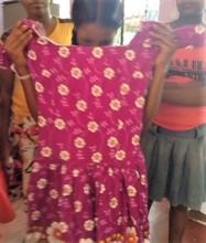 Dress made by one of the girls during sewing class