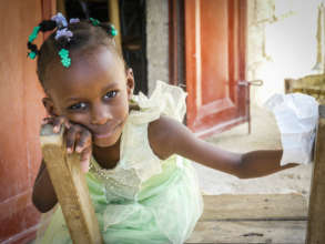 A Young Girl in Haiti