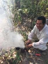 Edgardo smoking bees
