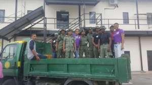 Volunteers for Disaster Relief efforts post storm