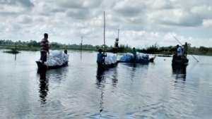 GOONJ team at work in Assam
