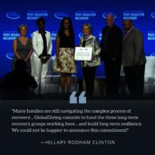 Photo with Secretary Clinton from CGI
