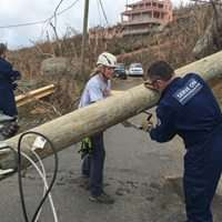 Team Rubicon clearing roads in BVIs