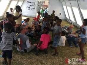 TR Volunteers erect temporary schools in BVIs