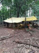 Temporary shelter in between flood