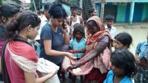 struggling villagers for food