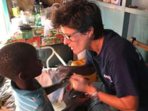 One of our doctors evaluates a child in Dominica