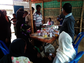 Inside the medical camp