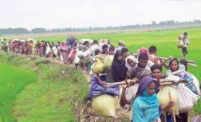 Refugees are entering into Bangladesh